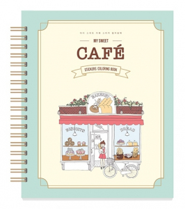 My Sweet Cafe Sticker Coloring Book