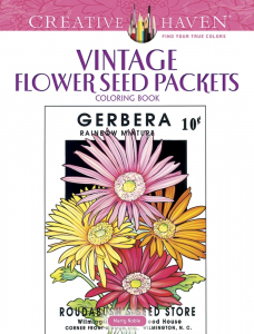 Vintage Flower Seed Packets Coloring Book