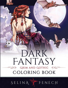 Dark Fantasy Coloring Book: Grim and Gothic