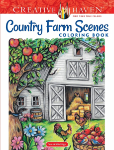 Country Farm Scenes Coloring Book