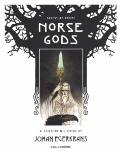 Sketches from Norse Gods. Colouring Book