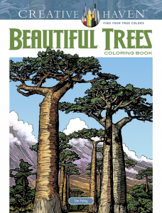 Beautiful Trees Coloring Book