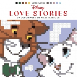 Carres Magiques Disney Love stories. Kolorowanka po numerkach
